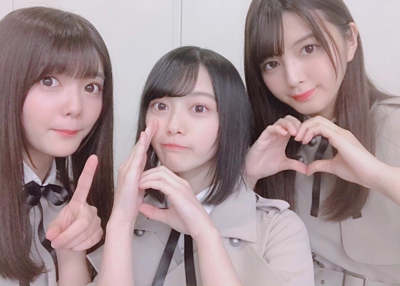 """【朗報】欅坂2期生のルックスtop3が""""奇跡""""の共演 美しすぎるスリーショットはこちら"""